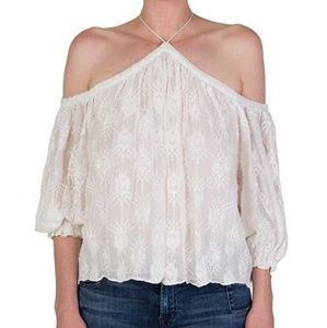 Rebecca Taylor Silk Open Shoulder Selina Top